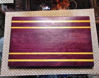 Exotic Purpleheart and Yellowheart Cutting Board