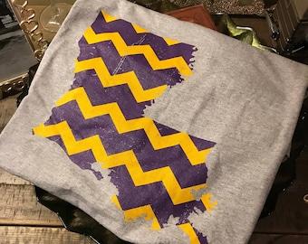 Louisiana Chevron Gildan Shirt