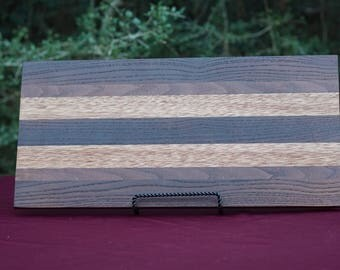 Charcuterie Board Handmade of fine woods. Finished with food grade oils and waxes.