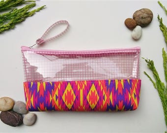 Clear bag,Makeup Bag,Cosmetic bag,pencil case,Zipper pouch,clear purse