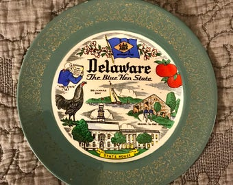 Homer Laughlin Cavalier Delaware State Collector Plate