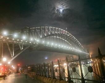AUSTRALIA  , SYDNEY  HARBOR Bridge - Photograph Print- 18 % Net - Help Homeless Youth- Australia Photos