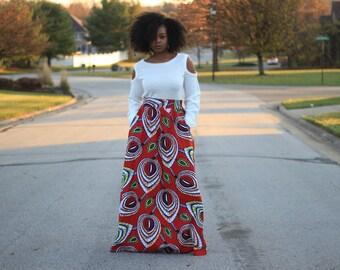Chizoba African Print Maxi Skirt