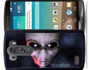 Personalized Rubber Case For LG  3, 4, 5, 6 - Alien Stars Space