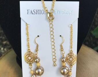 Bridal jewelry set pearl