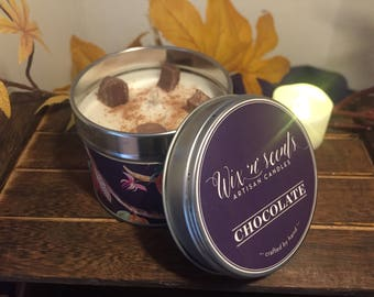 Chocolate Hand Made Scented Candle.