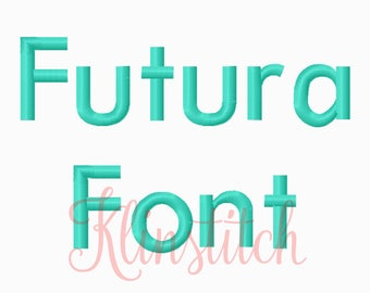 50% Sale!! Futura Embroidery Fonts 4 Sizes Fonts BX Fonts Embroidery Designs PES Fonts Alphabets - Instant Download