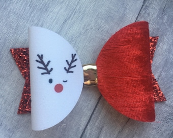 Christmas reindeer hair bow