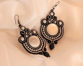 Banquet soutache earrings