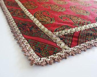 Handmade  Tablecloth, Coffee tablecloth, bedside tablecloth, Termeh tablecloth, Tablecloth from silkrod