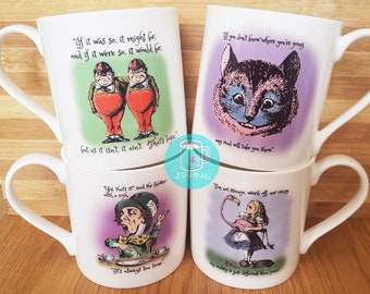 Alice in Wonderland Cups - Full Set