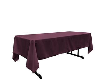 Plum 60 X 108 Rectangular 100% Woven Polyester Tablecloth For Banquets,  Weddings U0026 Parties
