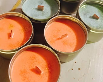 wood wick scented candles