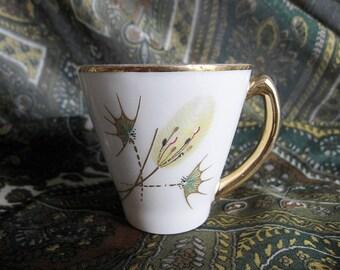 PMR  Jaeger & Co. Bavaria Porcelain Demitasse Teacup. Vintage Ware.
