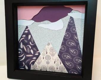 Glittery Purple Mountains