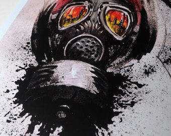Metro, Stalker, Mask, Post Apocalyptic, Gas Mask, Apocalipse, Graphic, Art Print, Digital Print, A4, 21x29,7