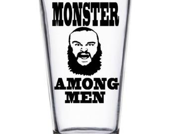 Braun Strowman Monster Among Men WWE NXT ROH Wrestler Wrestling Pint Wine Glass Tumbler Alcohol Drink Cup Barware Squared Circle