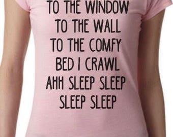 Women's Love Sleep Hip Hop lyrics Graphic Tshirt