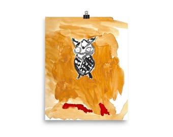 Boo Hoo Owl Print