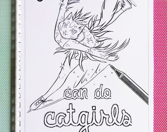 Can do Catgirls Colouring Book