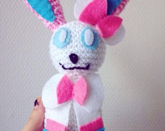 Sylveon knitted plushie
