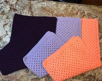 Crochet Granny Stripe Baby Blankets
