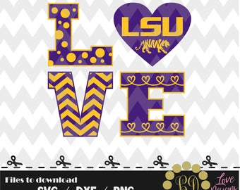 LOVE LSU Tigers svg,png,dxf,cricut,silhouette,college,jersey,shirt,proud,cutting,university,football,louisiana state,basketball,baseball,svg