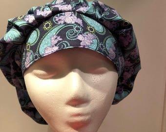 Bouffant style scrub cap