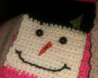 Adult snowman scarf