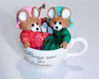 Hallmark's Always Time for Friendship Collectible Ornament 1989. No box.
