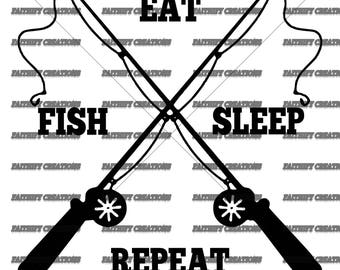 Fish Eat Sleep Repeat SVG