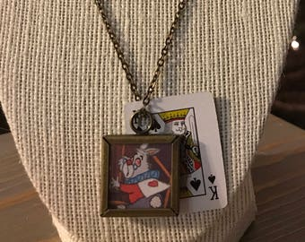 Upcycled Alice in Wonderland Necklace