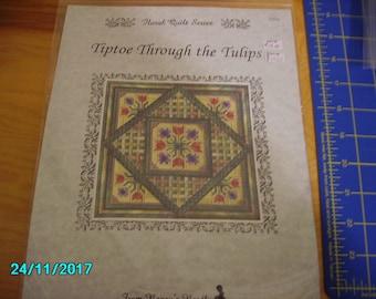 Tiptoe Through The Tulips Needlepoint Kit with Yarn