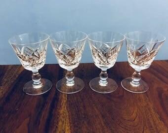 Vintage Antique Genuine Crystal Shot Glasses