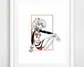 Asuka Langley 8x10 Print