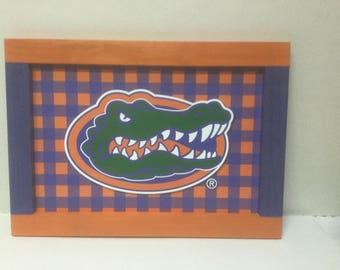 Hand Made Florida Gators wall hanging