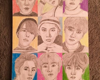 NCT 127 group drawing