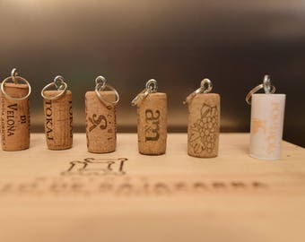 Wine Cork key chain
