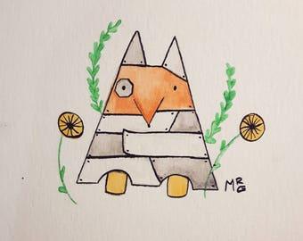 Cute small watercolor illustration *original*