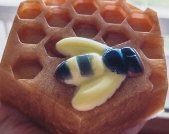 Honey scented bee soap