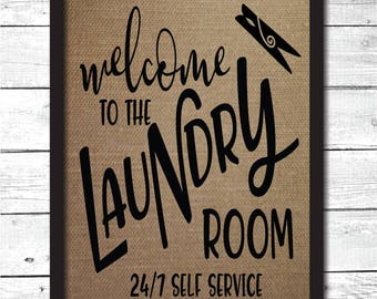 laundry room sign, laundry room decoration, laundry art, laundry art print, burlap laundry sign, burlap laundry print, laundry room sign, H4