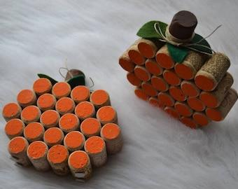 Autumnal Cork Pumpkins