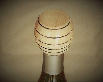 Wine barrel shaped Bottle Stopper