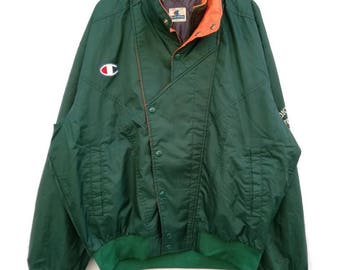 Vintage Champion Big Logo Sweater Windbreaker Tokyo Nodai Ekiden Team size large