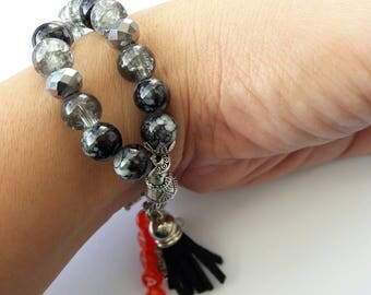 Tasbih 33 Black Handmade Crystal Tasbeeh Bracelet, Muslim Prayer Beads, Masnaha, Muslim Gifts, Islamic Gifts, Eid Gifts, Tasbih Favors Hijab