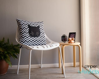 Chevron Cat Whiskers Cushion