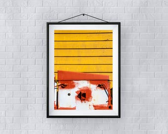 Print, Wall Art, 'Ochre and Rust', Giclee Print, Architecture, Street, New, Wall Art, Abstract