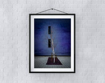 Print, Wall Art, 'Sylvia', Giclee Print, Architecture, Street, New, Abstract