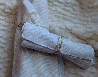 Recieving Blanket and Burp Cloths