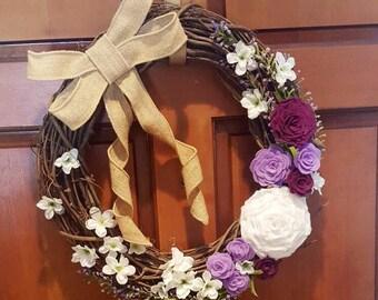 Spring Rose Wreath